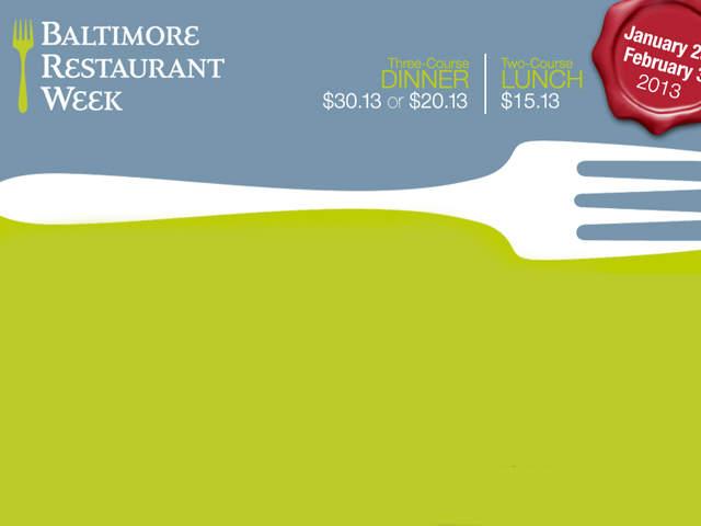 Baltimore County Restaurant Week Menus
