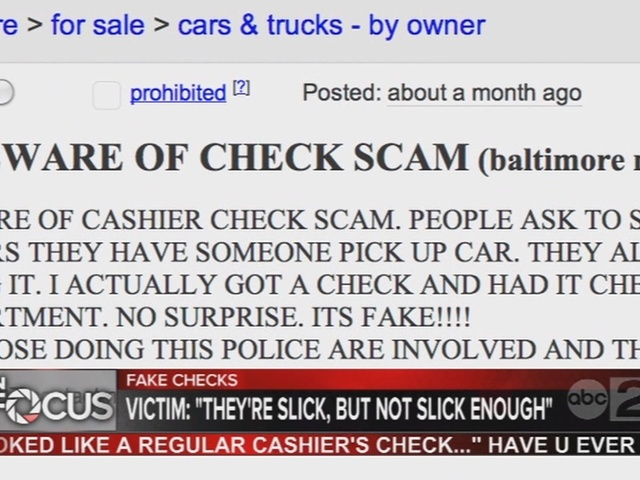 BBB says they hear about fake check schemes often - ABC2News.com