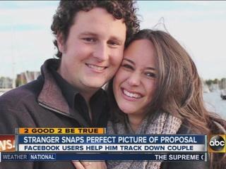 Couple grateful to stranger who captured photo