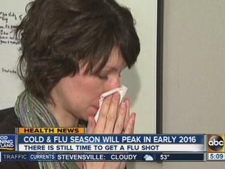 Baltimore, D.C. rank #7 in flu symptom city list