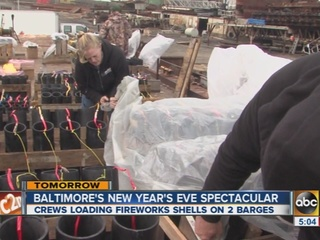 Preps underway for New Year's fireworks display