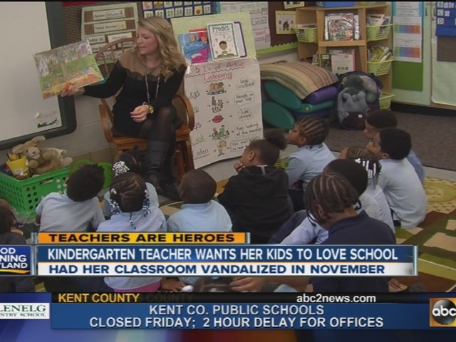 Teachers are Heroes: Kindergarten teacher wants students to love school