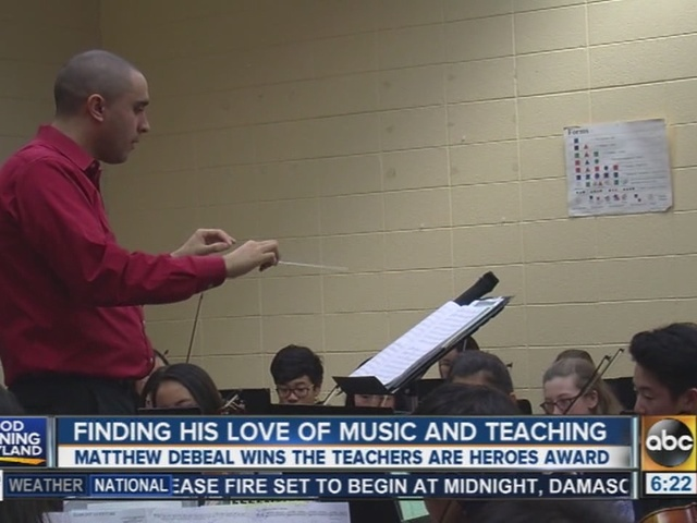 A Howard County teachers combines his love of music and education.