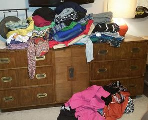 Weight loss leads to monthly closet purge