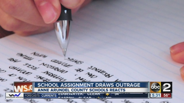 Model English Essays North County High School Students Satirical Essay Prompts Outrage   Abcnewscom Essay About Business also The Yellow Wallpaper Essay North County High School Students Satirical Essay Prompts Outrage  Business Management Essays