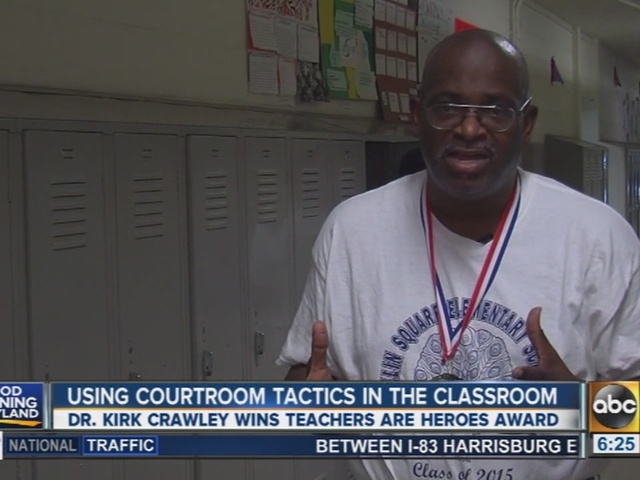 Teacher uses courtroom tactics in the classroom