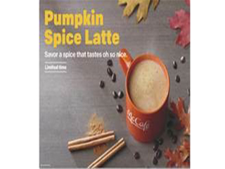 Pumpkin Spice Latte now at McDonald's