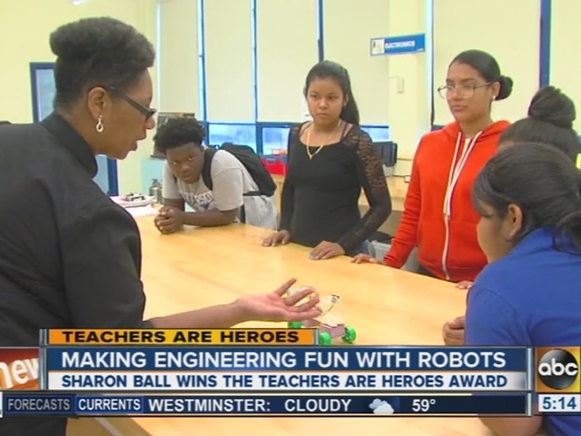 Teachers are Heroes: Sharon Ball makes engineering fun with robots