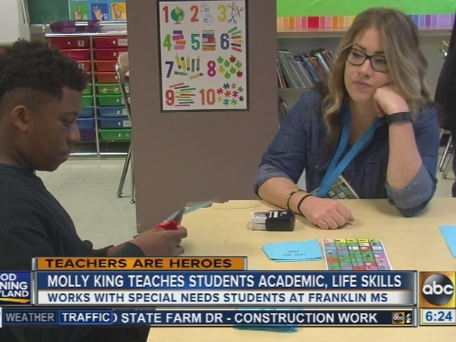 Special education teacher Molly King combines academic, life lessons in…