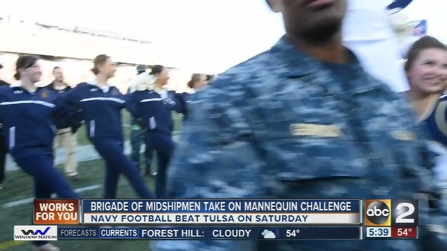 Naval Academy Takes On The Mannequin Challenge Abc2news Com