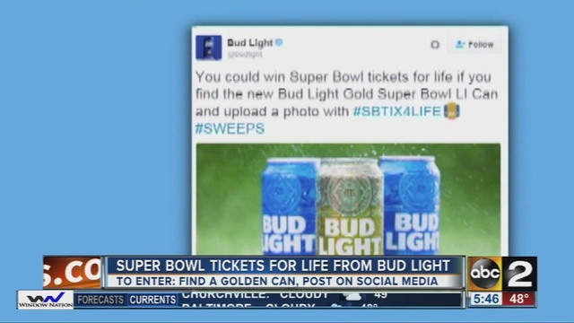 Super bowl tickets for life