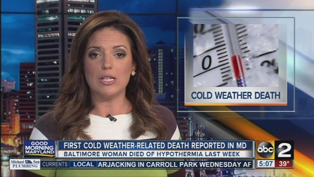 First Cold Weather Related Death Reported In Maryland