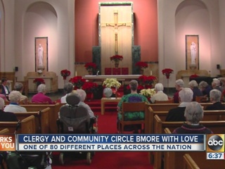 Baltimore clergy Circle the City with Love
