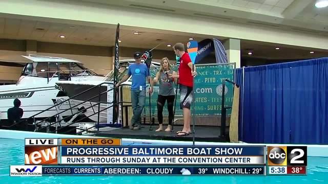 Wyatt Everhart talks standup paddle boarding at the Progressive…
