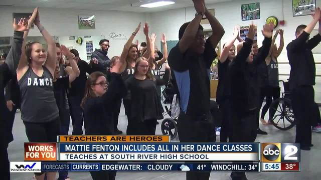 South River High school dance director Mattie Fenton includes all…