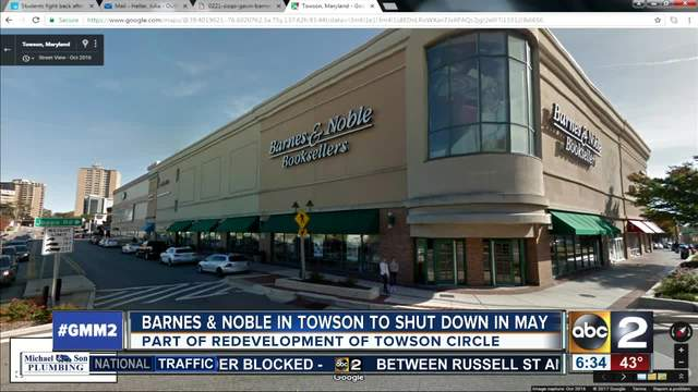 Barnes noble to close towson store in may wmar2news barnes noble to close towson store in may gumiabroncs Choice Image