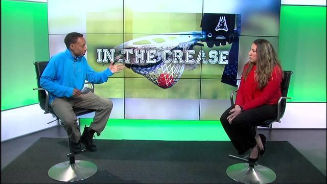 VP Lacrosse Operations for US Lacrosse Ann Kitt Carpenetti goes In the Crease