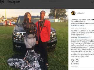 Teen wears Black Lives Matter dress to prom