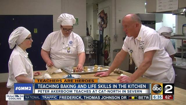 Teaching baking and life skills in the kitchen