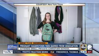 Pregnant teen banned from graduation