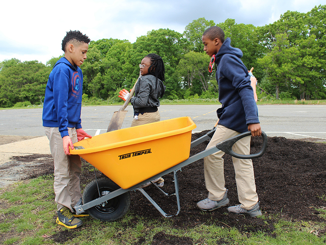 Students discover art through garden beds at east Baltimore