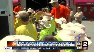Baltimore Boy Scouts to send popcorn to troops