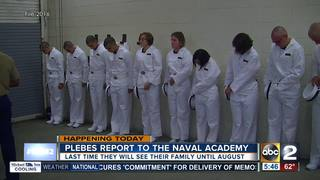 Naval Academy Class arrives for Induction Day