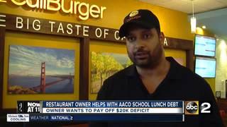 Restaurant owner helping school sytem with debt