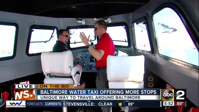 On the Go at the Baltimore Water Taxi