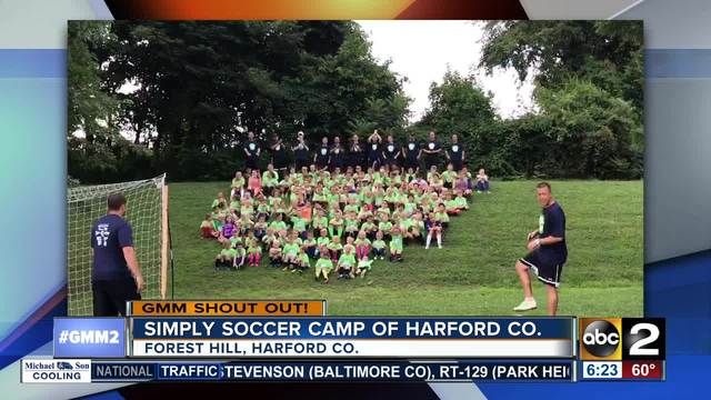 Simply Soccer Camp says good morning Maryland-