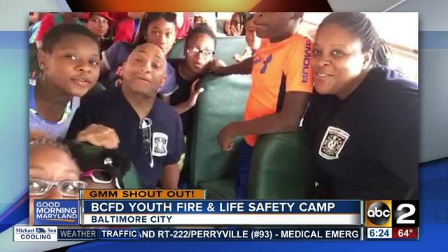 Good morning from the BCFD Youth Fire -amp- Life Safety Camp