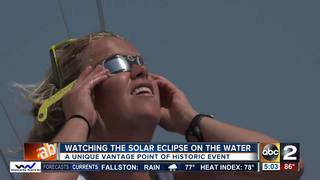 Watching solar eclipse on the Chesapeake Bay
