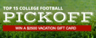 College Football Pickoff Sponsored by Royal Farm