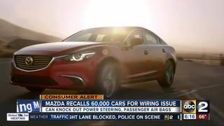 Mazda recalling more than 60 thousand cars