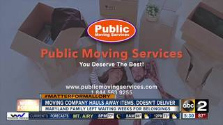 Moving company withholds family's belongings