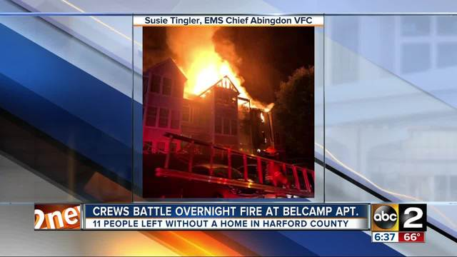 Crews Fight Large Fire In Belcamp Apartment Building Overnight