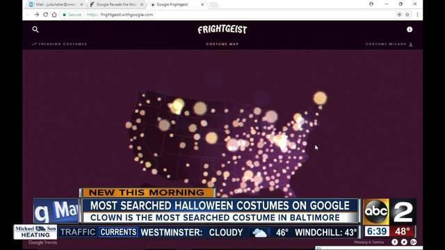 The most popular Halloween costumes according to Google - ABC2News.com
