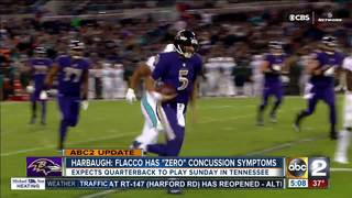 Harbaugh optimistic Flacco will play Sunday