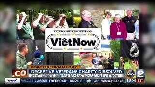 Deceptive veterans charity dissolved
