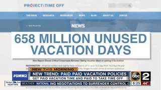 Offices paying employees extra to go on vacation