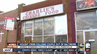 Violent crime follows couple out of Baltimore