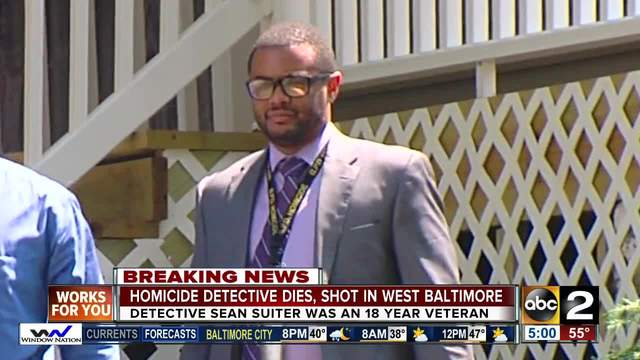 Baltimore detective dies after shot on-duty
