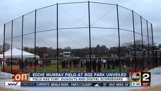Eddie Murray Field at BGE Park unveiled