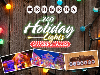 Send holiday lights pics, win a year of Bergers!