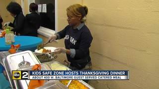 Safe Zone hosts Thanksgiving dinner for 400 kids