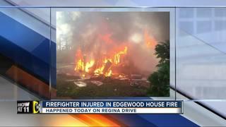 Firefighter injured, mobile home destroyed in...