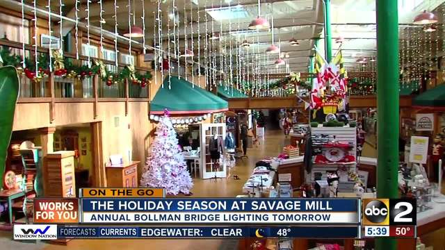 On the go at Savage Mill