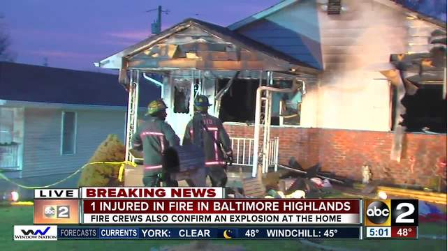 Explosion levels Baltimore County house; another home damaged Monday