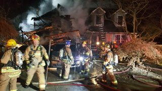 Seven safe after intense house fire in Columbia