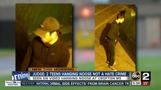 Judge says teens hanging noose not a hate crime